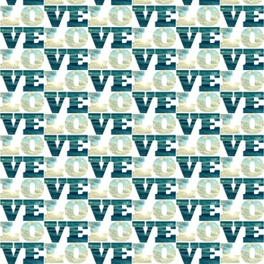 Word Fabric: Love Sea