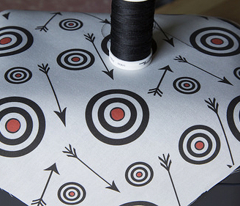 Targets and arrows on white