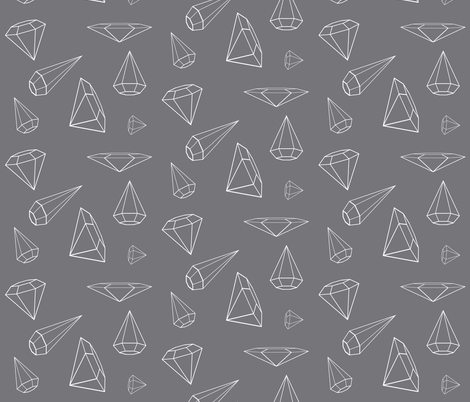 Altered Diamonds Charcoal Grey fabric by therustichome on Spoonflower - custom fabric