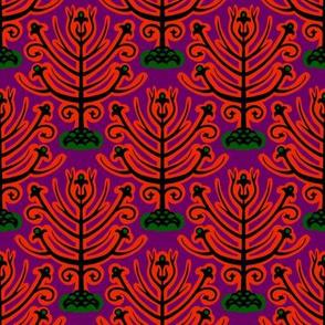 trees in purple