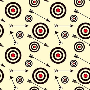Targets and arrows on yellow