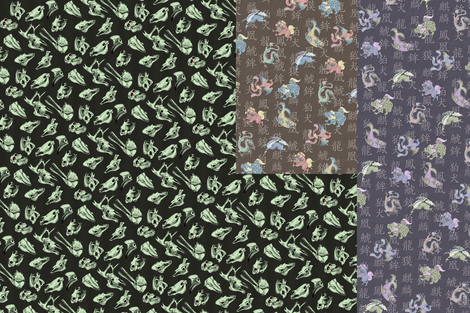 3bagsskullasian fabric by craftyscientists on Spoonflower - custom fabric