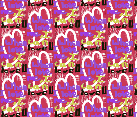 When I Love Me I Can Love U fabric by menny on Spoonflower - custom fabric