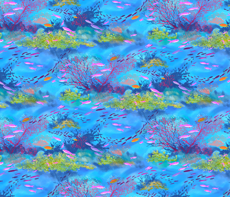 Great Barrier Reef Large fabric by vinpauld on Spoonflower - custom fabric