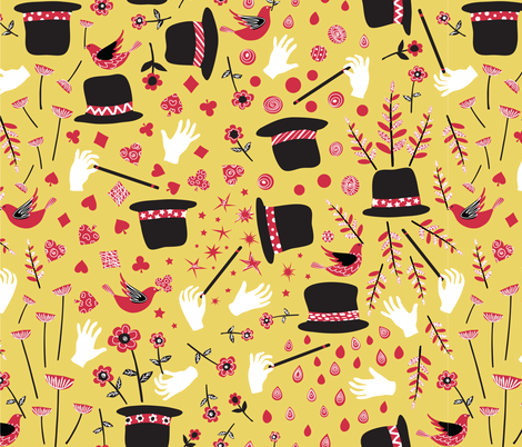 magic hats fabric by gracedesign on Spoonflower - custom fabric