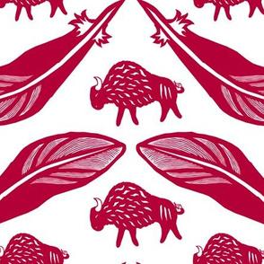 American Bison Paper Cut