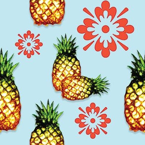 Pineapples & Flowers