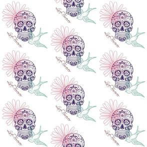 Live Forever Candy Skulls