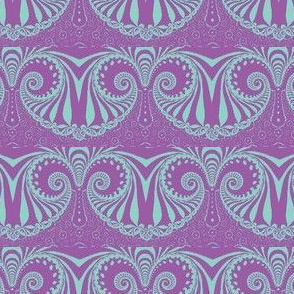 Grand Poobah Feeling Expansive in pastel purple and green