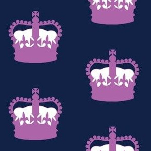 Queen Elizabeth's Crown in Purple and Navy