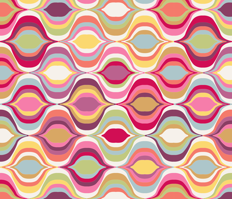 geometric_wave_L fabric by nadja_petremand on Spoonflower - custom fabric
