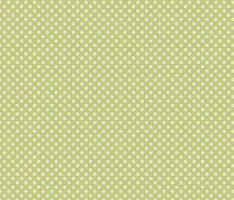 marguerite_fond_vert_S fabric by nadja_petremand on Spoonflower - custom fabric