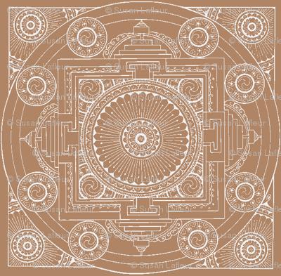 Taupe Mandala