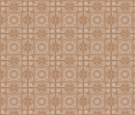 Taupe Mandala fabric by mammajamma on Spoonflower - custom fabric
