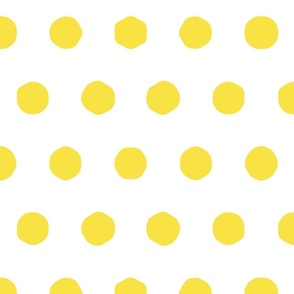 yellow - big polka dots
