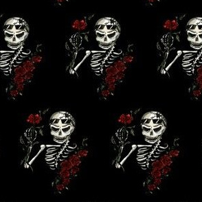 Skeleton & Roses, Small, Black