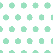 mint - big polka dots