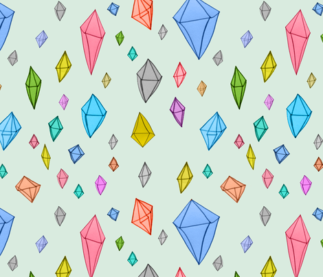 Colourful diamonds fabric by nicolaclare on Spoonflower - custom fabric