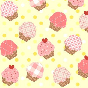 Pink Cupcakes Yellow