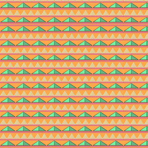Triangles in Orange Desert