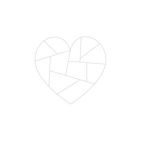 Faceted Heart Embroidery Pattern fabric by saltyoat on Spoonflower - custom fabric