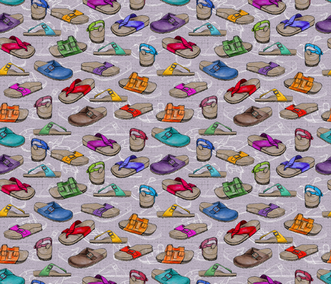 Shoes Birkenstock fabric by cassiopee on Spoonflower - custom fabric