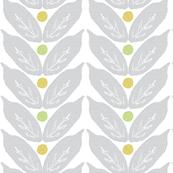 Print Slice - Modern Grey Leaves