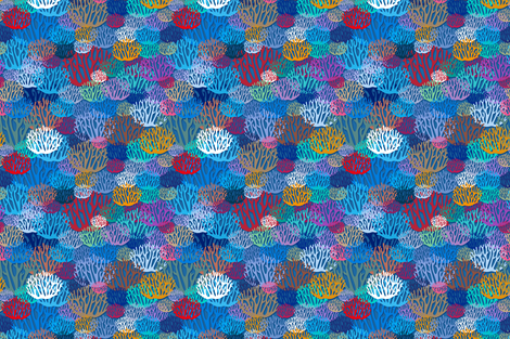Coral fabric by cassiopee on Spoonflower - custom fabric