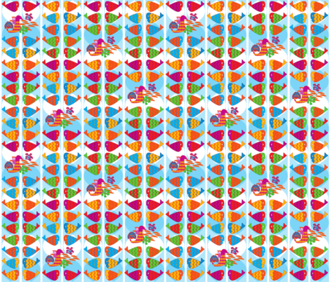 Great fun at the reef barrier fabric by ivonne_chocarro on Spoonflower - custom fabric