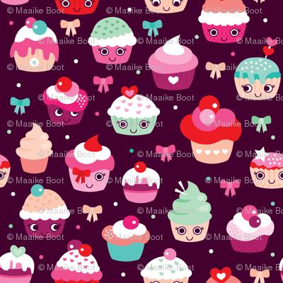 Lovely kawaii birthday cupcake party