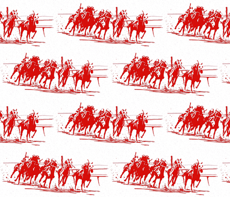 Race_red_toile_1500 fabric by joysmom on Spoonflower - custom fabric