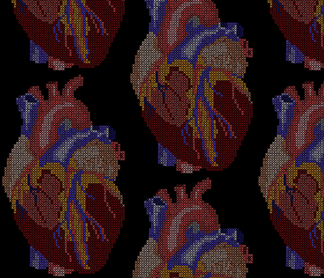 heart3 fabric by mgterry on Spoonflower - custom fabric