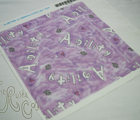 Agility hearts and paws - purple