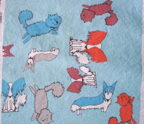 Blue Lap Dog Print