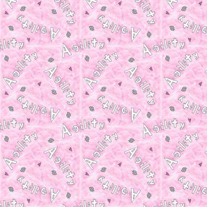Agility hearts and paws - pink