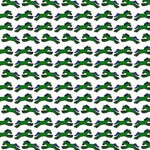 Petite Ponies in green