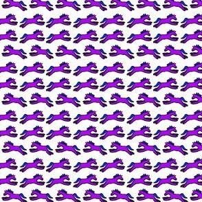 Petite Ponies in purple