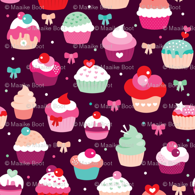 Lovely birthday cupcake illustrationparty