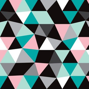 Pastel modern geometric triangle pattern LARGE