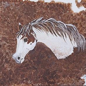 Paint horse head