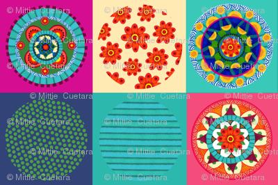 Mandala collection of three mandalas and three coordinates