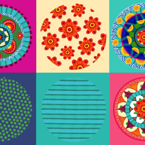 Mandala collection of three mandalas and three coordinates
