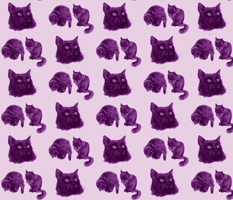 Trinity Lilac - My Black Cat fabric by dinky's on Spoonflower - custom fabric