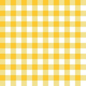 Gingham Yellow half