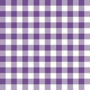 Gingham Purple Half