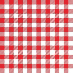 Gingham RED half
