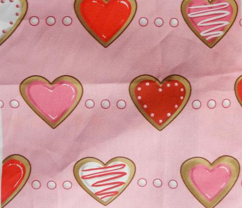 Sugar Cookie Hearts on Pink, Kitten Tea Party