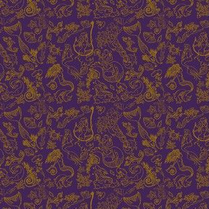 Mermaid Tarot Pattern: Plum