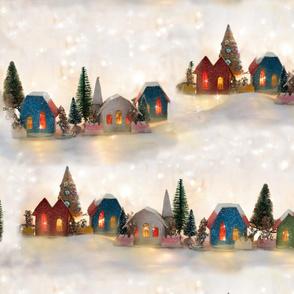 Vintage Christmas Putz Houses