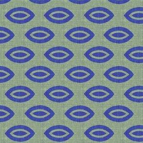 Third Eye - mint green and blue